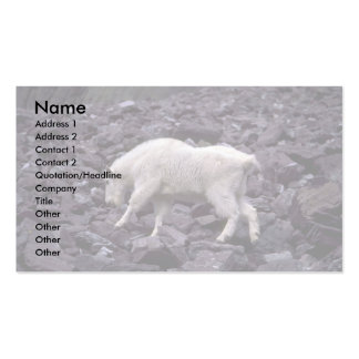 Rocky Mountain Goat Business Card Template