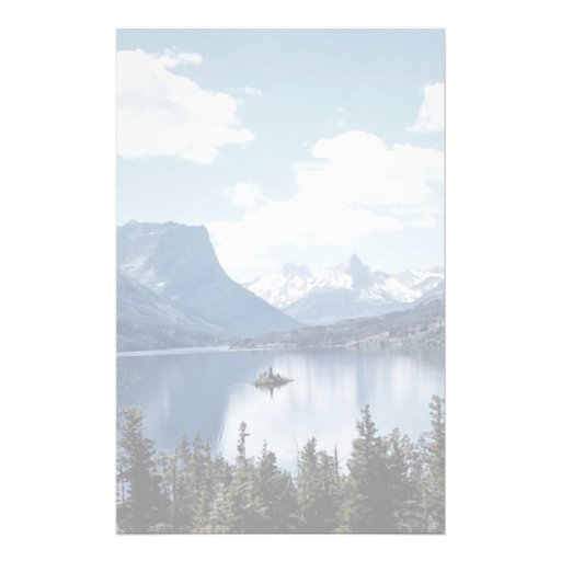 Rocky Mountain lake view, Glacier National Park, M Custom Stationery
