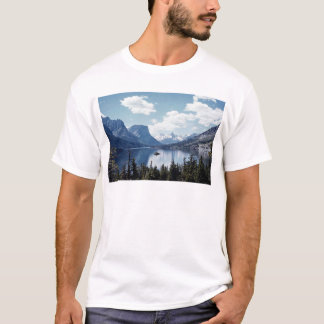 Rocky Mountain lake view, Glacier National Park, M T-Shirt