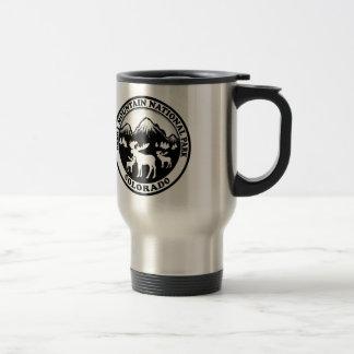 Rocky Mountain Nat Park black white circle Coffee Mug