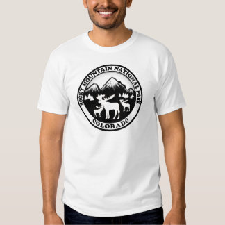 Rocky Mountain Nat Park black white circle T Shirt