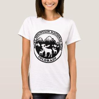 Rocky Mountain Nat Park black white circle T-Shirt