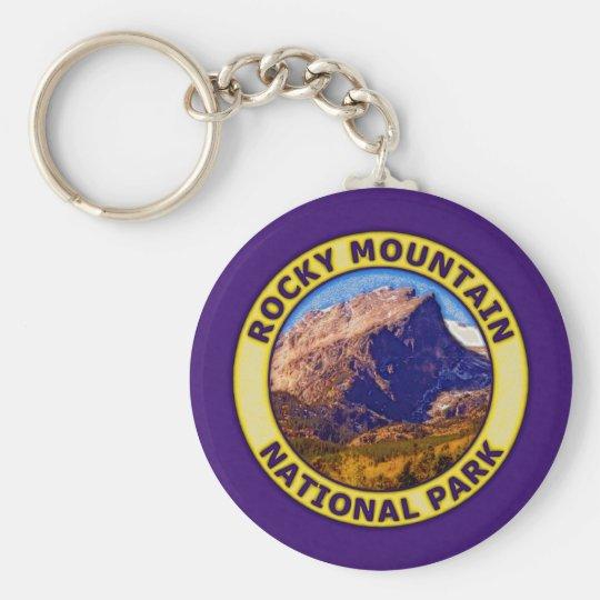 Rocky Mountain National Park Basic Round Button Key Ring