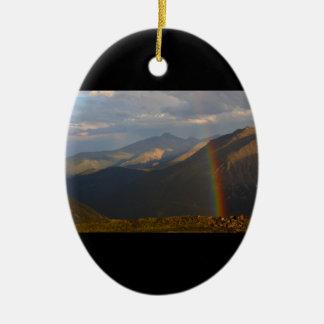 Rocky Mountain National Park Ceramic Oval Decoration