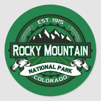 Rocky Mountain National Park Logo Round Stickers