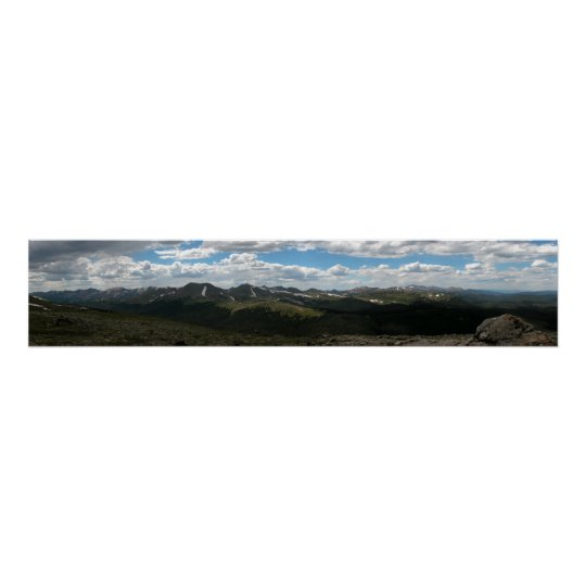 Rocky Mountain National Park Panoramic 4 Poster