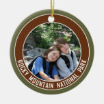 Rocky Mountain National Park Souvenir Round Ceramic Decoration