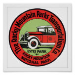 Rocky Mountain Parks Transportation Print
