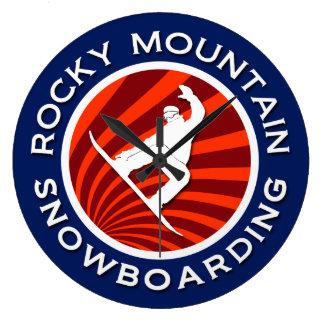Rocky Mountain Snowboarding Wallclock