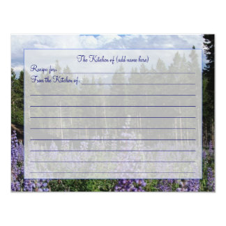 "Rocky Mountain Summer Recipe Card 4.25"" X 5.5"" Invitation Card"