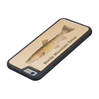 Rocky Mountain Trout Fish Fishing Carved Maple iPhone 6 Bumper Case