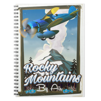Rocky Mountains by Air! Spiral Notebook