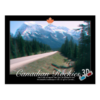 Rocky Mountains Canada 3D Anaglyph Postcard