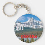 Rocky Mountains Canada Basic Round Button Key Ring