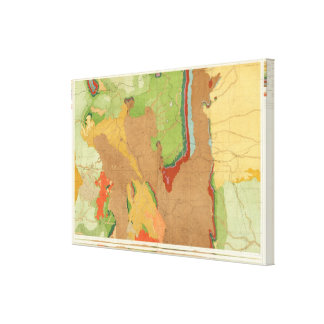 Rocky Mountains Geological Canvas Print