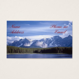Rocky Mountains Lake Business Card
