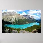 Rocky Mountains Lake Poster