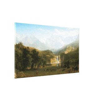 Rocky Mountains, Lander's Peak by Albert Bierstadt Canvas Print