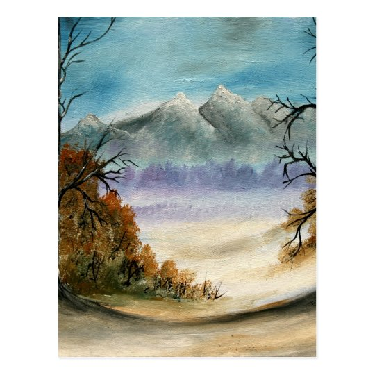 Rocky Mountains landscape oil painting Postcard
