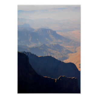 Rocky Mountains Summer Day Mist High Sand Poster