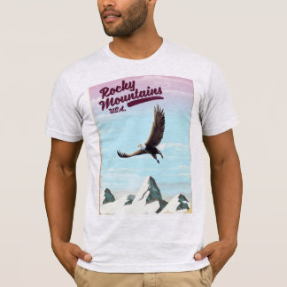 Rocky Mountains USA Vintage travel poster T-Shirt