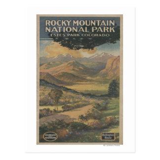 Rocky Mt. Nat'l Park Brochure # 1 Postcard