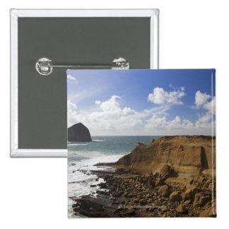 Rocky Oregon Pacific Coast in Pacific City 15 Cm Square Badge