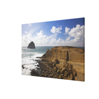 Rocky Oregon Pacific Coast in Pacific City Canvas Print