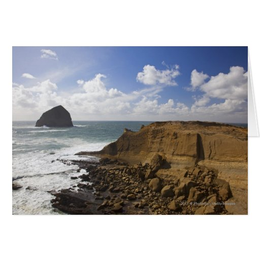 Rocky Oregon Pacific Coast in Pacific City Greeting Card
