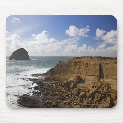 Rocky Oregon Pacific Coast in Pacific City Mousepads