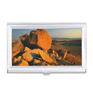 Rocky Outcrop And Desert Valley, Richtersveld Business Card Holder