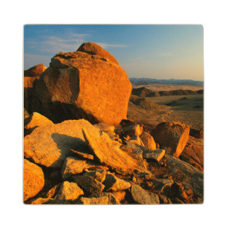 Rocky Outcrop And Desert Valley, Richtersveld Wood Coaster