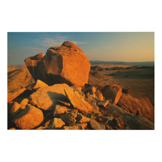 Rocky Outcrop And Desert Valley, Richtersveld Wood Print