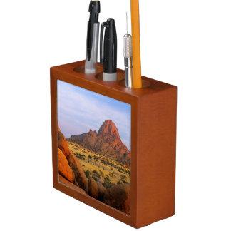 Rocky Outcrop And Plain, Spitzkoppe, Erongo Desk Organiser