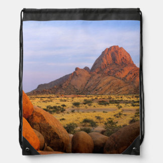 Rocky Outcrop And Plain, Spitzkoppe, Erongo Drawstring Bag