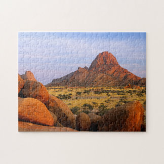 Rocky Outcrop And Plain, Spitzkoppe, Erongo Jigsaw Puzzle