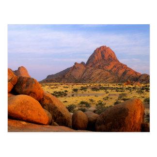 Rocky Outcrop And Plain, Spitzkoppe, Erongo Postcard