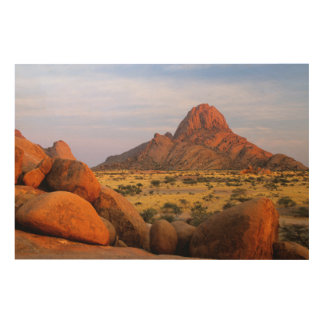 Rocky Outcrop And Plain, Spitzkoppe, Erongo Wood Wall Art