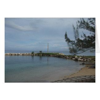 Rocky Pier in Jamaica Card