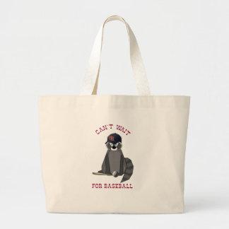 Rocky-Raccoon-Baseball Jumbo Tote Bag