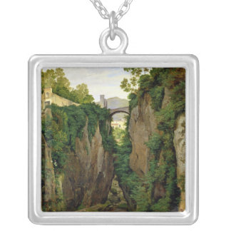 Rocky Ravine at Sorrento, 1823 Silver Plated Necklace