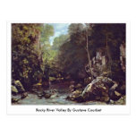 Rocky River Valley By Gustave Courbet Postcard