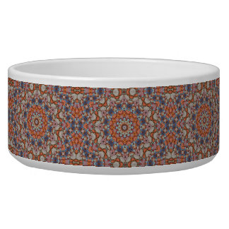 Rocky Roads Vintage  Kaleidoscope  Pet Dish Dog Bowl