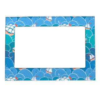 Rocky Sea Pattern Magnetic Picture Frame