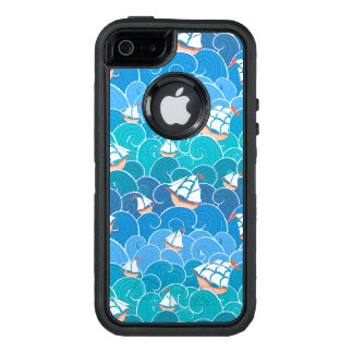 Rocky Sea Pattern OtterBox Defender iPhone Case