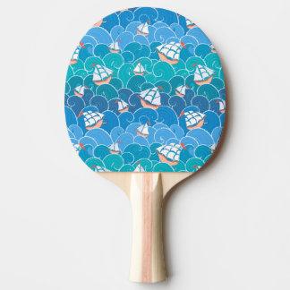 Rocky Sea Pattern Ping Pong Paddle