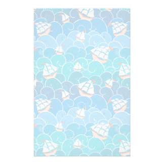 Rocky Sea Pattern Stationery