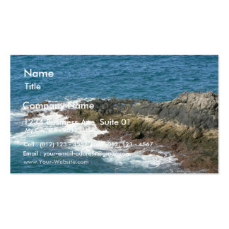 Rocky Sea Shore Water Business Card