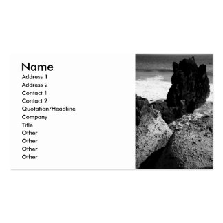 Rocky seascape pack of standard business cards