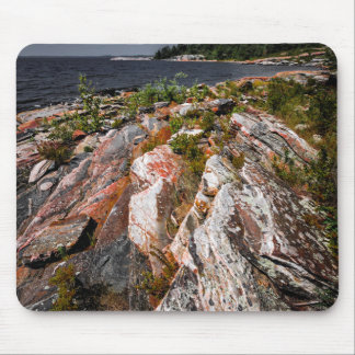 Rocky shore of Georgian Bay Mouse Pads